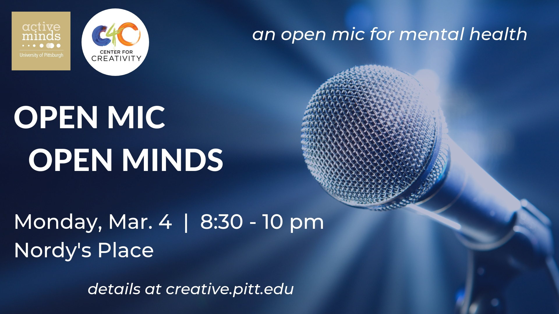 Open Mic Open Minds mental health promotional picture